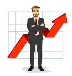 successful business man with arms folded vector image