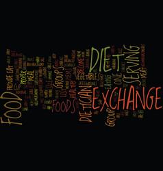 The exchange diet text background word cloud vector