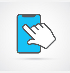 touch screen phone trendy symbol trendy colored vector image