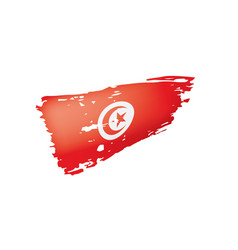 tunisia flag on a white vector image