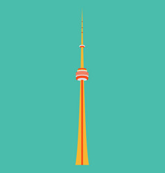 Tv cn tower in toronto famous world landmarks vector