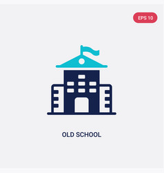 two color old school icon from education concept vector image