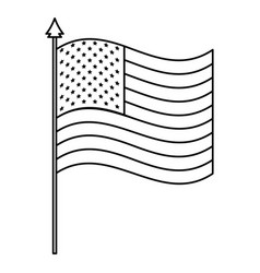 united states america flag in pole vector image