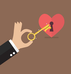 unlock the heart vector image