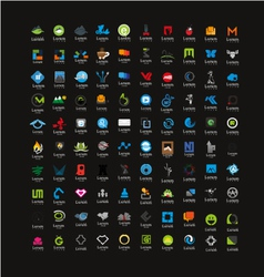 Usable Business icons Set Set of 100 icons vector image