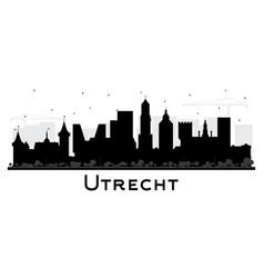 Utrecht netherlands city skyline silhouette vector