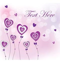 valentines flower vector image vector image