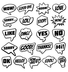 vintage speech bubble with internet chat dialog vector image