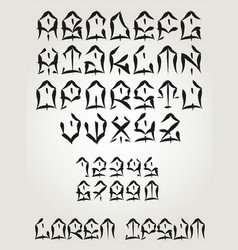 West coast graffiti font - hand written tattoo vector