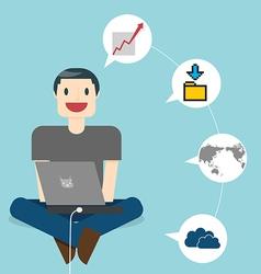 Work Online vector image