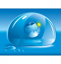 world in a drop of water vector image
