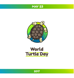 World turtle day may 23 vector