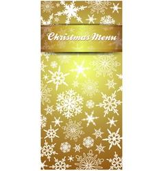 Christmas snowflake gold menu vector