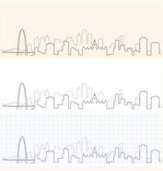 dallas hand drawn skyline vector image