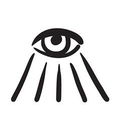 Hand drawn eye symbol icon vector image