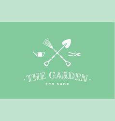logo of eco shop the garden vector image