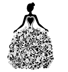 silhouette of beautiful dress vector image