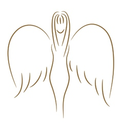 sketch of angel vector image vector image
