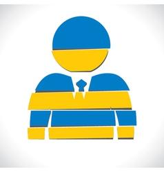 blue businessmen design with strip vector image