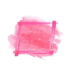 magenta pink watercolor grunge frame vector image vector image