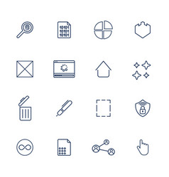 multimedia icons for app programs and sites vector image vector image