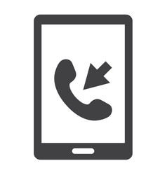 incoming call solid icon contact us and website vector image vector image