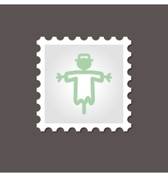 Scarecrow stamp Outline vector image vector image