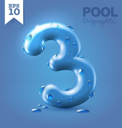 Wet blue glossy font vector image vector image