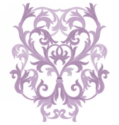Damask Baroque element vector image