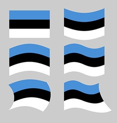 Estonia flag Set of flags of Estonia in various vector image vector image