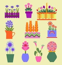 Flower shop Garden plants vector image vector image