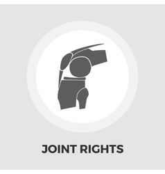 Joint flat icon vector image vector image