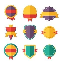Modern flat design badges collection vector