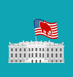 republicans win white house flag red elephant vector image vector image