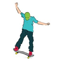 skater balance vector image vector image