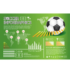soccer info graphic vector image vector image