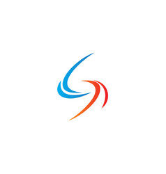 Abstract letter s curve circle logo vector