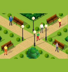 an urban park vector image