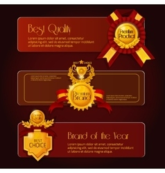 Award sale banners vector