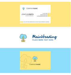 beautiful uploading on cloud logo and business vector image