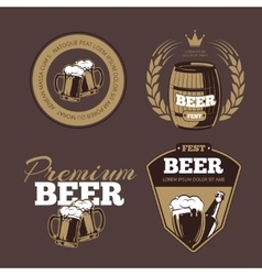 Beer icons labels signs for posters and banners vector