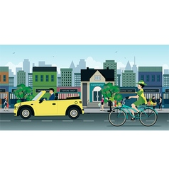 Bicycles on the Road vector image