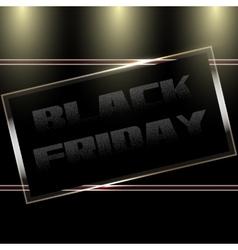 Black Friday Door Plate vector image