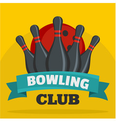 bowling club icon flat style vector image