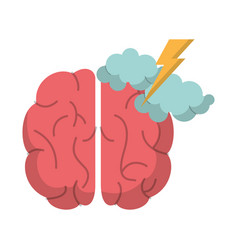 brain creativity storm ideas vector image
