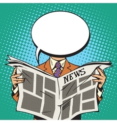 Bubble head reader of the newspaper vector