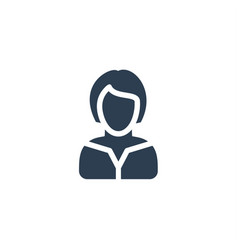 Businesswoman lady avatar business solid flat vector