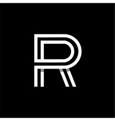 Capital letter R Logo monogram emblem vector