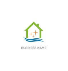 clean house realty company logo vector image