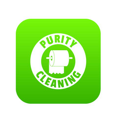 cleaning toilet icon green vector image